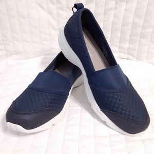 Easy Spirit Navy Blue Casual Slip On Sneakers